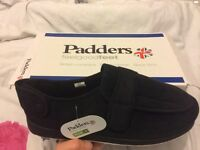 Padders WrapBlack slippers size 13
