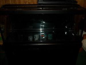 75 Gallon aquarium +stand + heater + glass lids