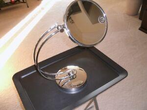 Heavy Stainless Steel pedestal mirror