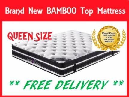 BRAND NEW Queen Size Bed Mattress BAMBOO FABRIC FREE DELIVERY