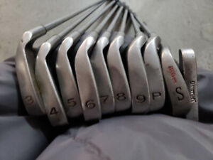 Acer irons and full set of woods with bag Left Handed LH