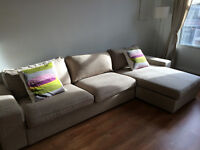 KIVIK Ikea Sofa Sectionnal couch Beige Great condition