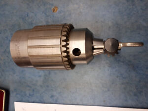 """JACOBS 59B LATHE HEADSTOCK SPINDLE CHUCK 1 1/2"""" x 8 TPI and Key"""