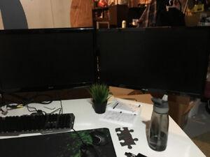 """Two Gaming Monitors 27"""""""