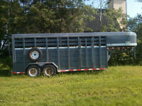 2006 18' GooseNeck CornPro Stock/Horse Trailer - REDUCED