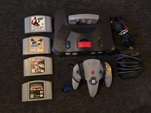 Nintendo 64 with five games expansion pack