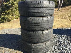 Four Dunlop 215/45R18 Summer Tires