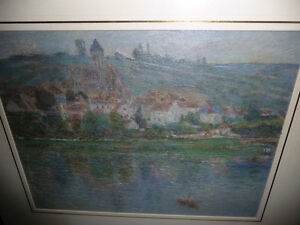 "Claude Monet ""Vetheuil"" Painted 1901 Textured Art Print Stratford Kitchener Area image 9"