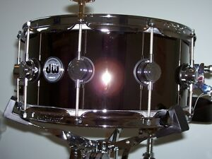 DW Collector's Series, 6.5x14 - Black Nickel over Brass Snare