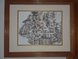 "An original water color of ""Old Quebec"" signed by Claude Roy."