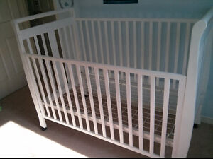 White wooden baby crib for sale $80 OBO