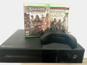 XBOX ONE + two games
