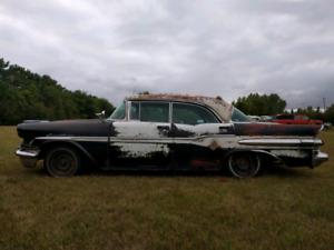 57 Pontiac Laurentian four door hard top
