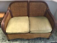 Conservatory furniture, two seater and single chair. Rattan style.