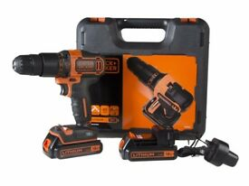 Black & Decker CHD18KB Combi Drill with Case 2 x 1.5Ah Li-ion Ideal Christmas gift
