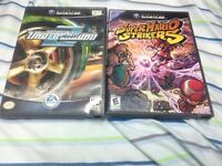 Super Mario Strikers Gamecube et NFS Underground 2
