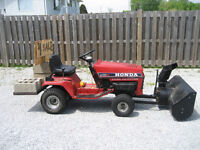 honda tractor and snow blower