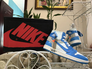 Nike Air Jordan 1 Off White Blue JustFlames.com