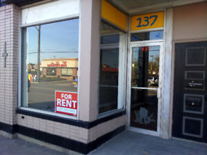 Affordable Commercial Retail/Office space for Lease Nov first