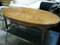 Oak Coffee Table w/ Matching End/Side Table