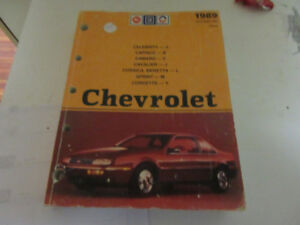 1989 CHEV/CAMERO/CAPRICE/BERETTA/CORVETTE AC DELCO PUBLICATION $