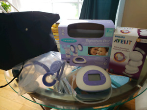 Breastfeeding electronic pump Lansion and Avon's pads
