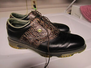 Mens Brown & Black Golf Shoes