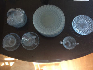 antique bubble glass dishes 100$OBO