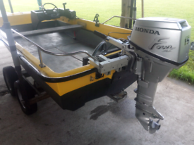 Dory Fishing Boat 15hp Honda Four Stroke Outboard