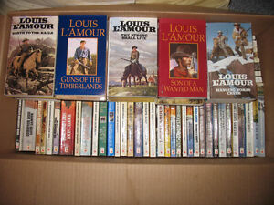 Louis LaMour Western books and Misc Author books