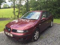 2003 Seat Toledo 1.9 SE red i model 2 lady owners from new