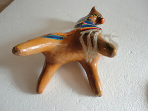 VTG Tlaquepaque Mexican Hand Painted Art Clay Pottery Horse bank London Ontario image 7