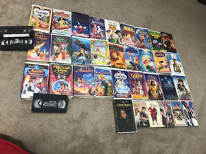 VCR Disney movies and other old collectible movies