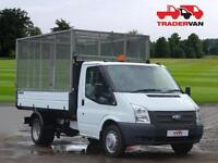13 FORD TRANSIT 2.2 TDCi 125ps T350 Single Cab Tipper WITH GALVANISED CAGE DIESE