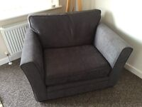 Grey snuggle chair