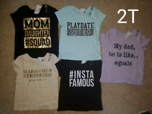 Toddler Girl T-shirts (2T)