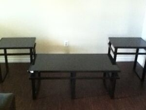 Mint Condition (Black Glass) Coffee Table Set