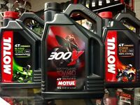 MOTUL 300V FACTORY LINE MOTORCYCLE ROAD RACING 10W40 OIL ON SALE