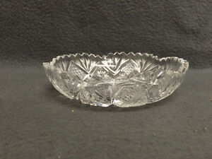 Collectible Antique Crystal Candy Dish