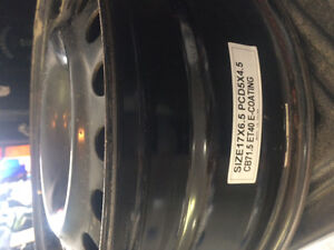 Steel wheels 17x6.5 off Hyundai Sant Fe