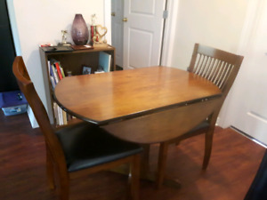 3-Piece Drop Leaf Table & Chairs
