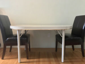 Dining Table & Two Chairs: for sale