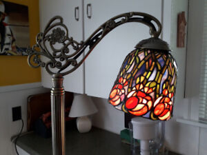 Stained Glass Bridge Style Floor Lamp