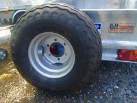 Agri trailer wheels dumper trailer silage