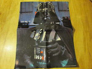 STAR WARS Darth Vader Poster Vintage 1983 Scholastic Laminated