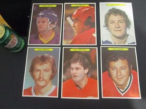 """1196 - Lot de 6 cartes de Hockey 5""""x7"""" O-Pee-Chee 1981"""