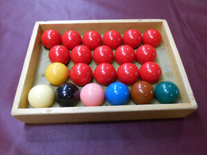 Snooker balls 2 & 1/16 inches