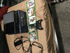 Xbox one with controller and 5 games