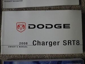 2008 DODGE CHARGER SRT 8 OWNERS MANUALS AND CASE  $40  Call780-9