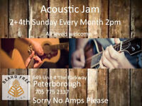 Acoustic Jam  2nd and 4th Sunday every month
